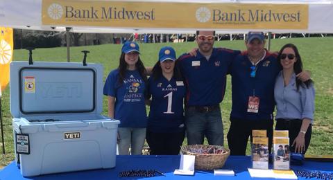 Bank Midwest sponsored the Spring Game at Kansas University.